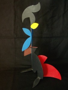 Untitled – Modern Painted Metal Sculpture
