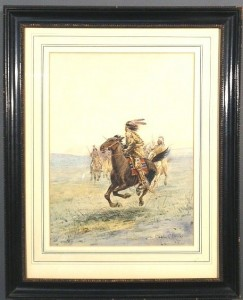 Untitled – Native American Indians on Horseback
